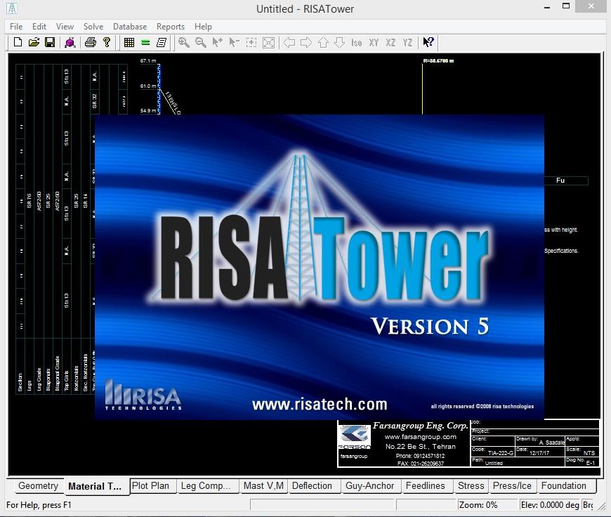 آموزش کاربردی مدلسازی و طراحی دکلهای مخابراتی با نرم افزار RISATower